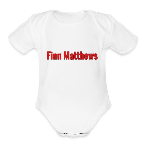 FM Logo - Organic Short Sleeve Baby Bodysuit