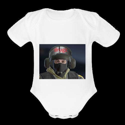 bandit drugz - Organic Short Sleeve Baby Bodysuit