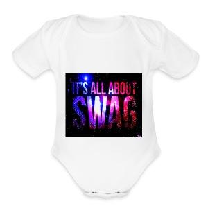 SWAG IS LIFE - Short Sleeve Baby Bodysuit