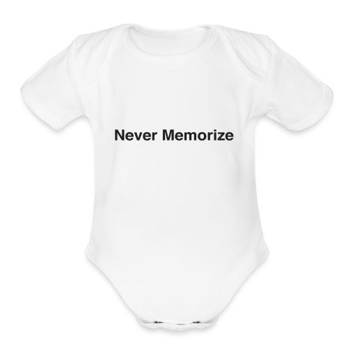 NEver memorize - Organic Short Sleeve Baby Bodysuit