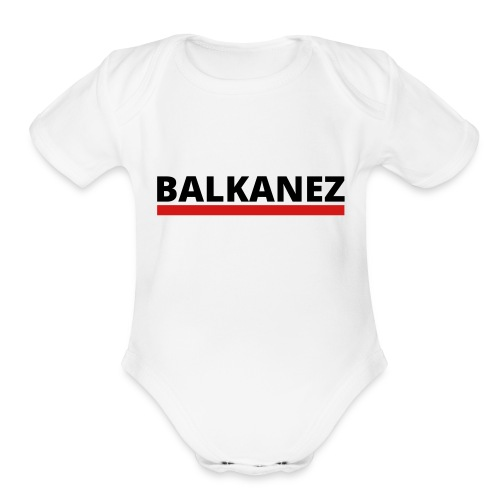 BALKANEZ BLACK - Organic Short Sleeve Baby Bodysuit
