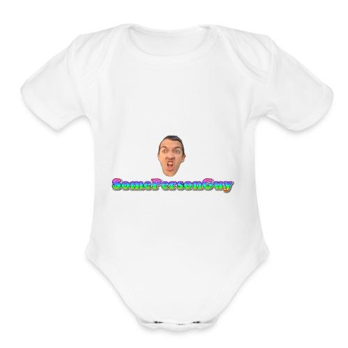 SomePersonGuy TShirt - Organic Short Sleeve Baby Bodysuit