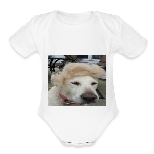 hell yeah dude - Organic Short Sleeve Baby Bodysuit