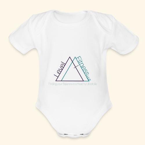Level Fitness with Logo - Organic Short Sleeve Baby Bodysuit