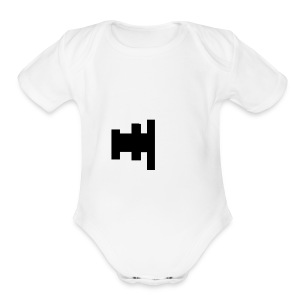 Blate logo - Short Sleeve Baby Bodysuit