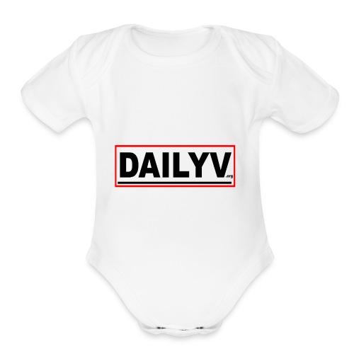 DAILYV.ORG - Organic Short Sleeve Baby Bodysuit