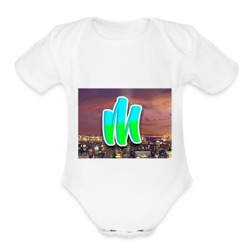 Classic Logo - Organic Short Sleeve Baby Bodysuit