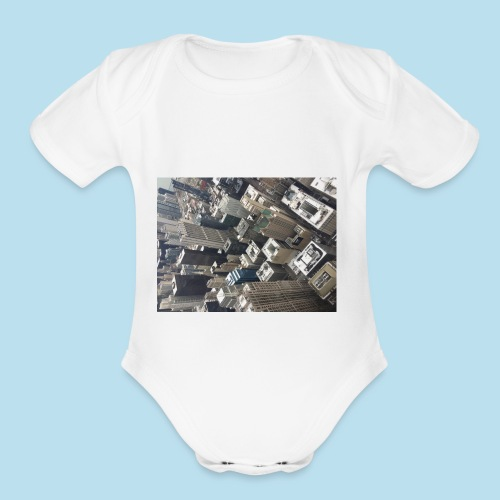 City - Organic Short Sleeve Baby Bodysuit