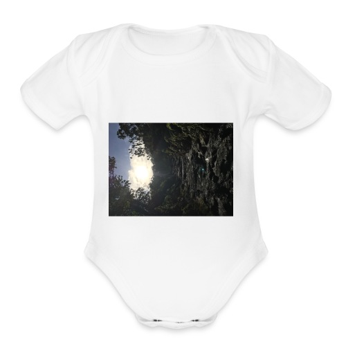 Glowing path - Organic Short Sleeve Baby Bodysuit