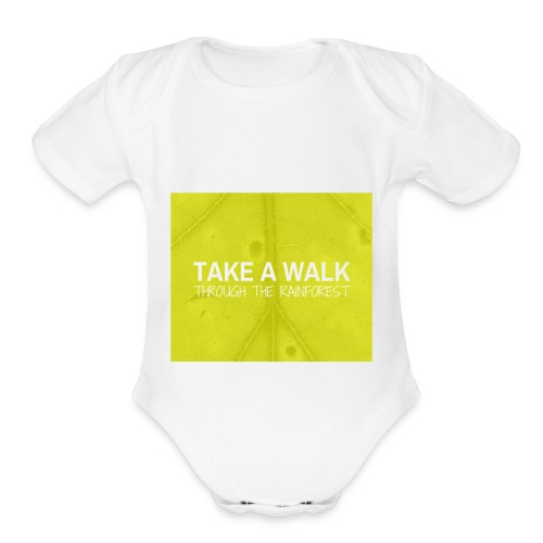 Take a Walk - Organic Short Sleeve Baby Bodysuit