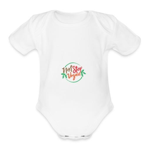 NextStopVegan01 2 - Organic Short Sleeve Baby Bodysuit