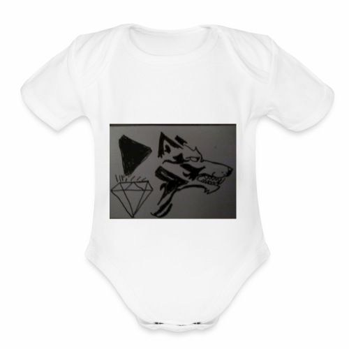 Pet slickboss - Organic Short Sleeve Baby Bodysuit