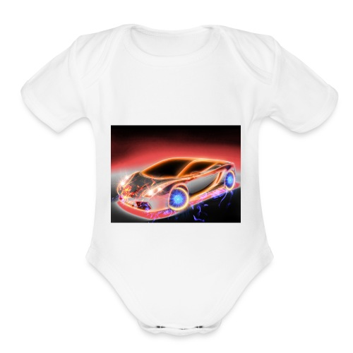 cars - Organic Short Sleeve Baby Bodysuit