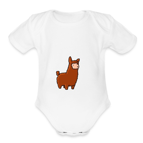 The lama - Organic Short Sleeve Baby Bodysuit