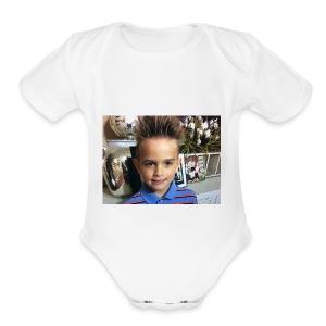 Let's go - Short Sleeve Baby Bodysuit
