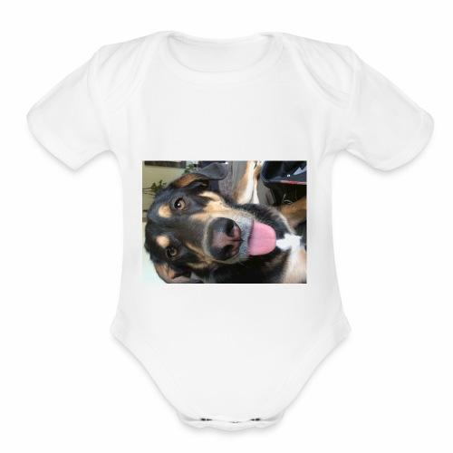 The cutest dog ever - Organic Short Sleeve Baby Bodysuit