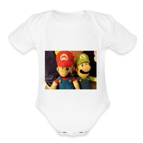 Mario - Organic Short Sleeve Baby Bodysuit