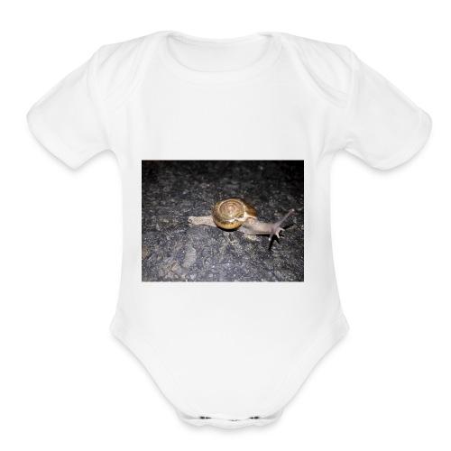 শামুক - Organic Short Sleeve Baby Bodysuit