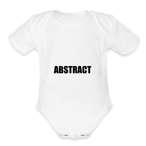 ABSTRACT - Organic Short Sleeve Baby Bodysuit