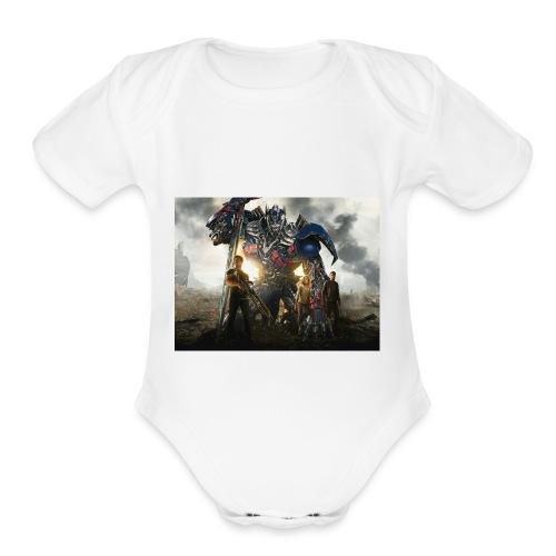 transformers 4 age of extinction - Organic Short Sleeve Baby Bodysuit