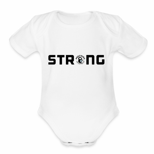 PK Strong - Organic Short Sleeve Baby Bodysuit