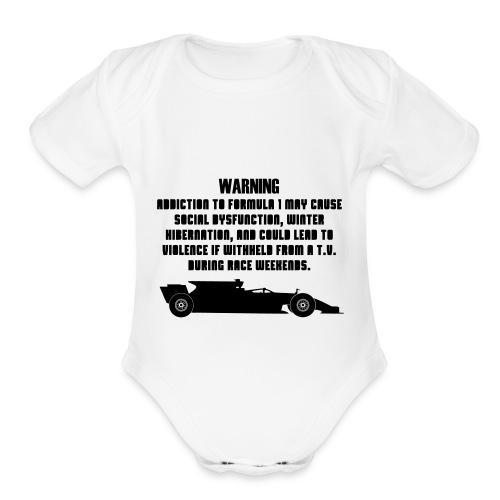 F1 Addiction - Organic Short Sleeve Baby Bodysuit