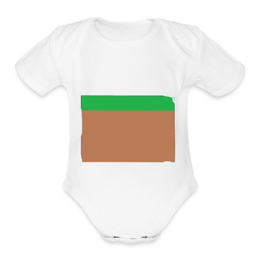 Grass block - Organic Short Sleeve Baby Bodysuit