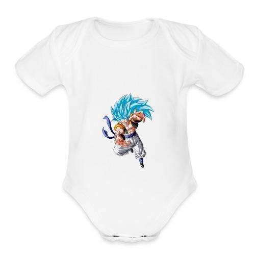 ssj3gogetablue - Organic Short Sleeve Baby Bodysuit