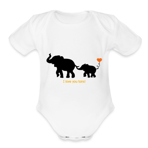 I Love You Tons! - Organic Short Sleeve Baby Bodysuit