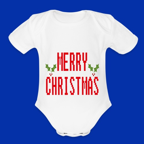 MerryChristmas - Organic Short Sleeve Baby Bodysuit
