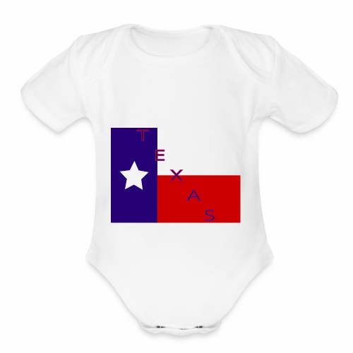 Texas Flag - Organic Short Sleeve Baby Bodysuit