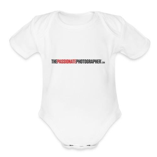 The Passionate Photographer T - Organic Short Sleeve Baby Bodysuit