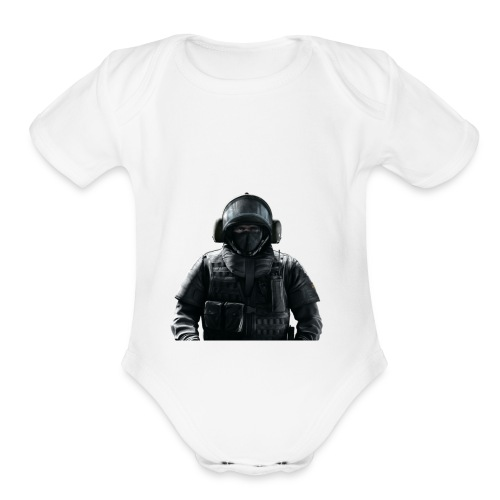 blitz god - Organic Short Sleeve Baby Bodysuit