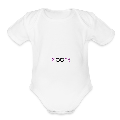 To Infinity And Beyond - Organic Short Sleeve Baby Bodysuit