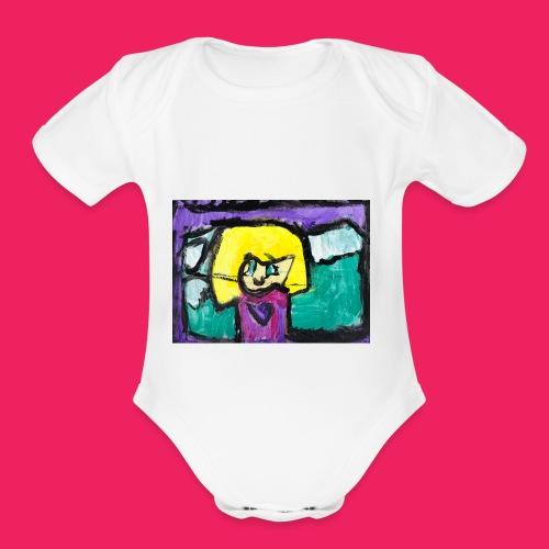 Self Portrait - Organic Short Sleeve Baby Bodysuit