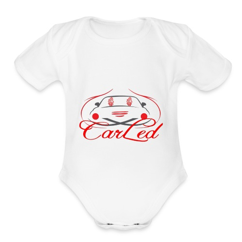 CarLedLogo - Organic Short Sleeve Baby Bodysuit
