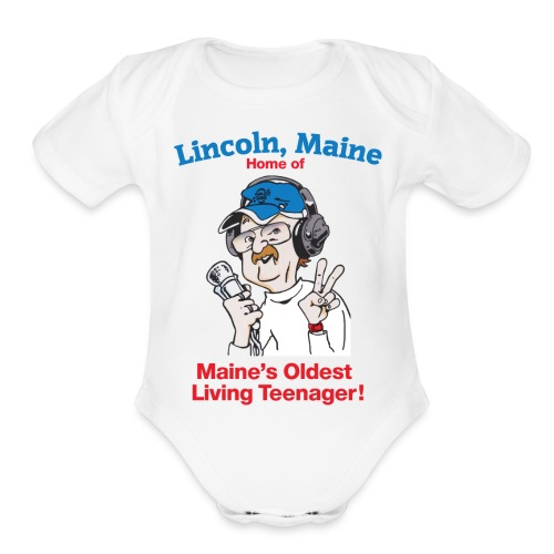 Maine's Oldest Living Teenager - Organic Short Sleeve Baby Bodysuit