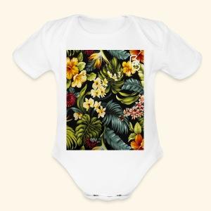 Flower BB - Short Sleeve Baby Bodysuit