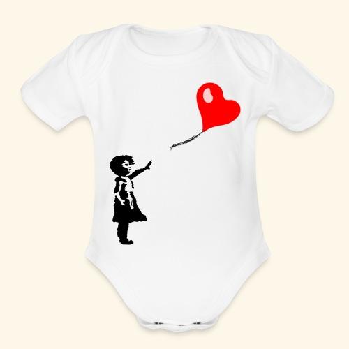 Balloon Girl - Organic Short Sleeve Baby Bodysuit