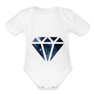 diamond - Short Sleeve Baby Bodysuit