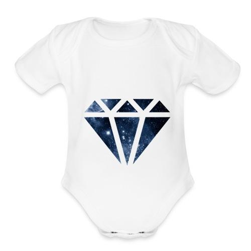 diamond - Organic Short Sleeve Baby Bodysuit