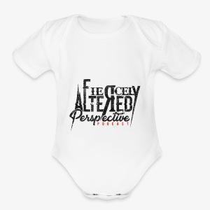 black logo - Short Sleeve Baby Bodysuit