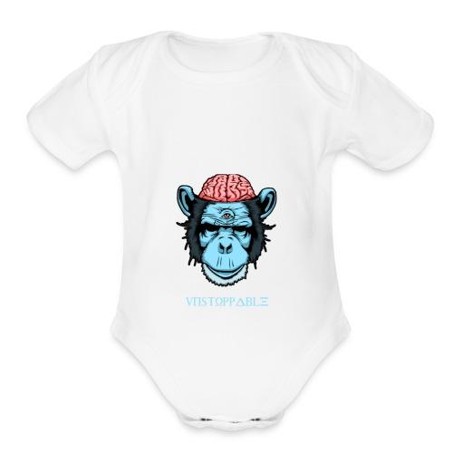 unstoppable - Organic Short Sleeve Baby Bodysuit