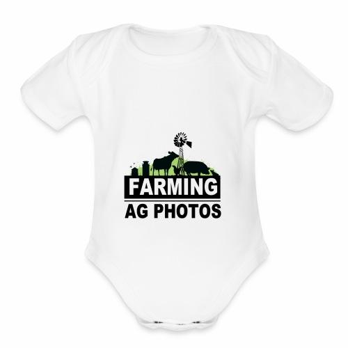 Farming Ag Photos - Organic Short Sleeve Baby Bodysuit