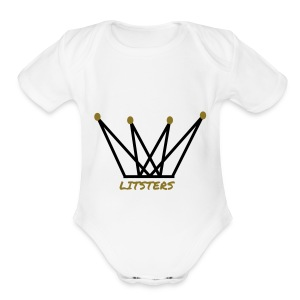 LITSTERS crown logo 1 - Short Sleeve Baby Bodysuit