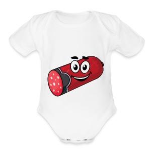 Salami and Mr Marshmello - Short Sleeve Baby Bodysuit