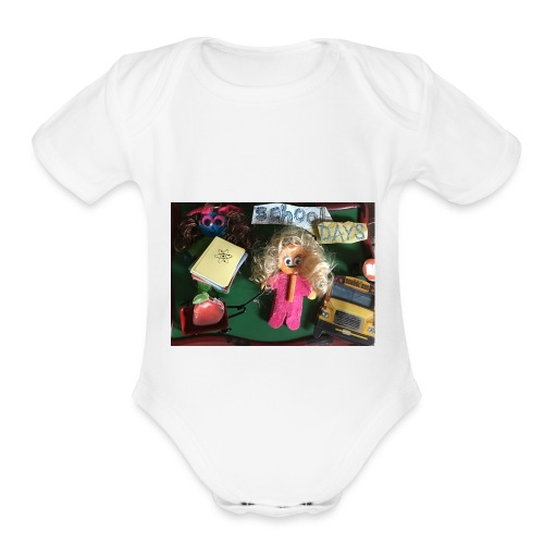 school days - Organic Short Sleeve Baby Bodysuit
