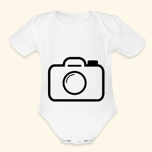 Camera - Organic Short Sleeve Baby Bodysuit