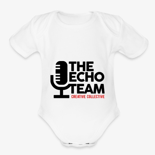 Echo Team Logo Black Letters - Organic Short Sleeve Baby Bodysuit