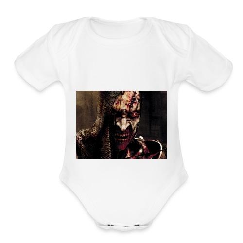 Zomby stranger - Organic Short Sleeve Baby Bodysuit